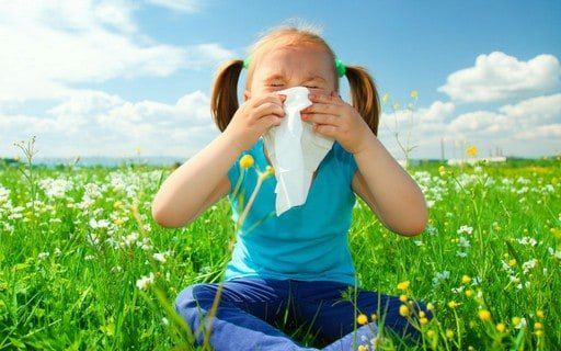 Girl Spring Allergies